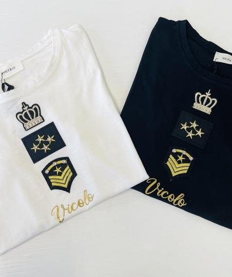 Tshirt Vicolo militare nera